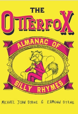 Illustrated book cover for The Otterfox Almanac of Silly Rhymes